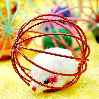 More Play Playing Toys False Mouse in Rat Cage Ball For Pet Cat Kitten Gift