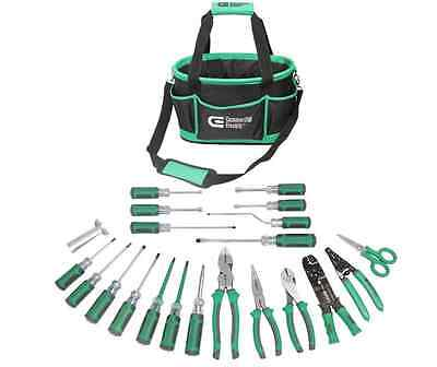 Commercial Electric 22-Piece Electrician's Mixed Tool Set With Case Durable New