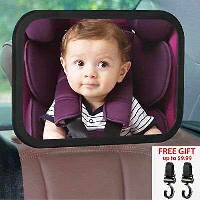JCHL Baby car Mirror Backseat Mirror for Car Rear View Mirror with Adjustable +