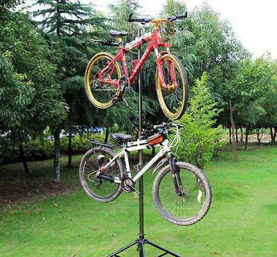 Bike Repair Work Stand With Bonus Tool Tray For Home Bicycle Parking Rack NG