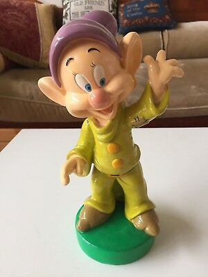 "Disney 7 Dwarfs ""DOPEY"" Gnome Factory 25cm Garden Gnome or Display"