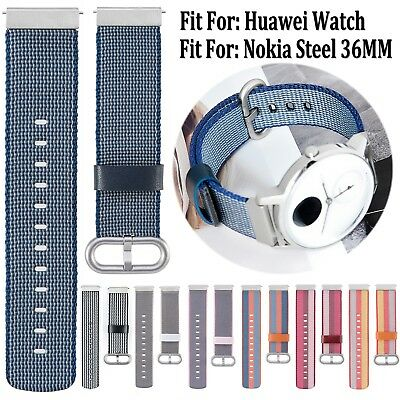 Woven Nylon Fabric Watch Band Strap Bracelet For Nokia Steel 36MM/Huawei Watch