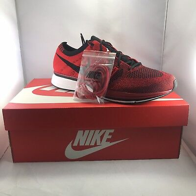 27a1c041bde7a Nike Air Flyknit Trainer SZ 10 University Black Red White AH8396-601