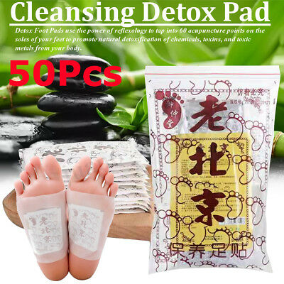 50 PCS Premium Ginger Detox Foot Pads Organic Herbal Cleansing Detox Pads