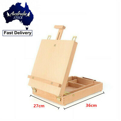 Adjustable Easel Display Stand Drawing Board Art Artist Sketch Painting Box