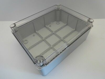 ESR CLEAR LID ENCLOSURE JUNCTION BOX ADAPTABLE PVC PLASTIC IP56 240x190x90mm