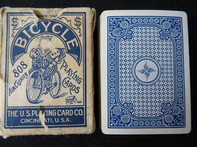 Vintage 1930s Playing Cards - Bicycle 808 - Racer (no 2) Backs - Wide Pack Deck