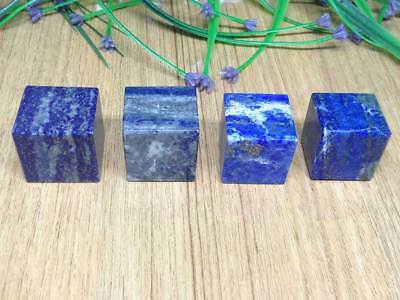 Set Of Three (3) Lapis Lazuli Cube Platonic Solids Sacred Geometry Crystal Cubes