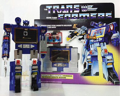 Transformers G1 DECEPTICON COMMUNICATOR SOUNDWAVE  ACTION FIGURE  without tapes
