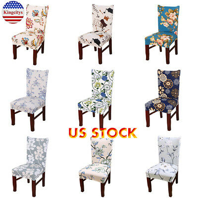1/4/6/8 Pcs Spandex Seat Covers Dining Room Banquet Chair Cover Party Xmas Decor