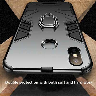 For Xiaomi Mi 8 Lite A2 A1 Poco F1 Max 3 Magnetic Ring Holder Hybrid Case Cover