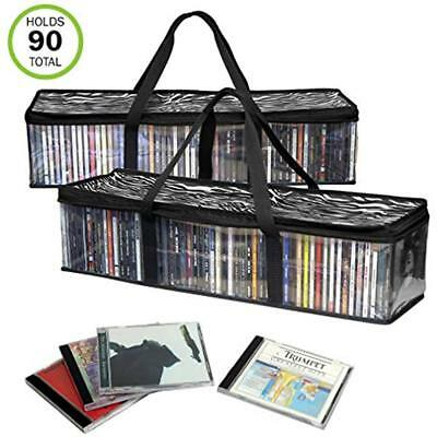 New&Improved CD Sturdy Storage Bags Carrying Handles, Set Of 2