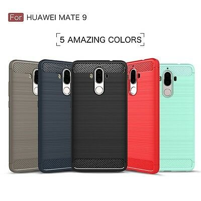 For Huawei P10 Plus P8 P9 Lite Mate 10 9 Shockproof TPU Carbon Fiber Case Cover
