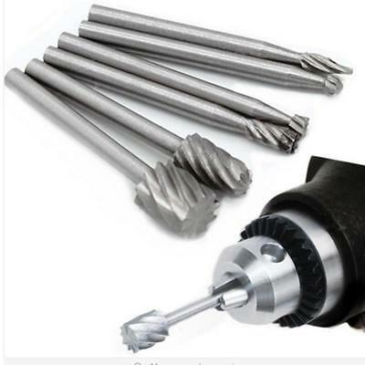 6PCs Silver Engraving Bit Set Kit Tool High Speed Steel Rotary Cutter Files ONE