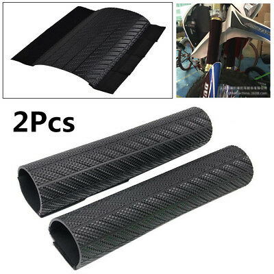 Pair Front Fork Protector Shock Absorbed Guard Wrap Cover For Yamaha YZ WR Honda