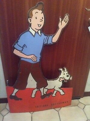 Grand PLV Tintin Casterman 110 cm   BON ETAT PLUS
