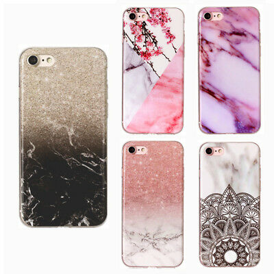 Marble Iridescent Holographic Holo Phone Case for iPhone 6 7 8 X Xs Max