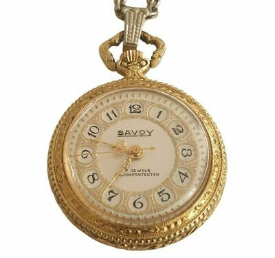 Savoy Ladies' 17 Jewels Shockprotected Pendant Watch - Swiss Made