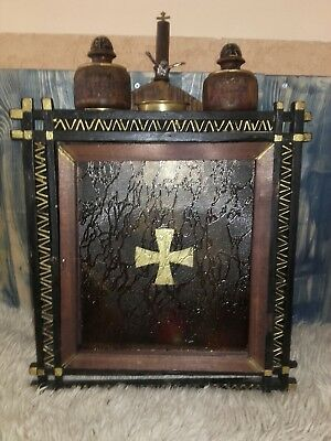 Old Antique Wooden Wall Iconostasis Wall Home Religious Icon Box