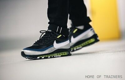 photos officielles 00a42 e56e6 NIKE AIR MAX 97/BW Black Metallic Silver Atlantic Blue White Men's Trainers