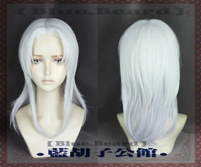 The Dragon Prince Rayla Anime Cosplay Costume Silver White Party Full Wig Y.1060