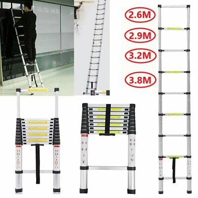 Multi-Purpose Aluminium Telescopic Ladder Extension Extendable Steps EN131 UK