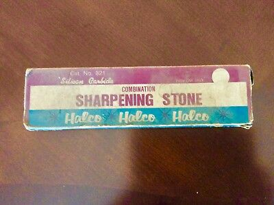 """Vintage HALCO Sharpening Stone Model # 821 8""""x2""""x1"""" Excellent Condition"""