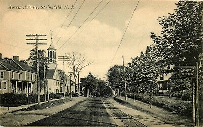 New Jersey Photo Postcard: Street Scene Of Morris Avenue, Springfield, Nj