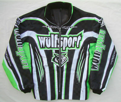 Adult Wulfsport Quad Karting Wulf MX Rampage Ride Jacket Green 2XL Clearance