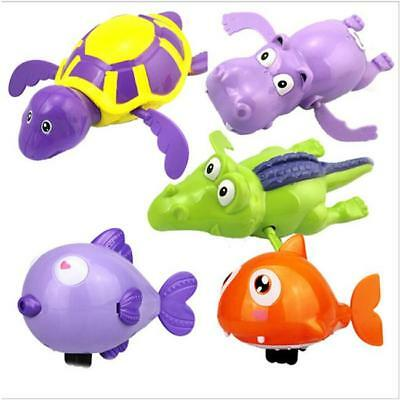 Wind Up Animal Swimming Baby Bath Floating Turtle Diver Toy Clockwork Shower ONE