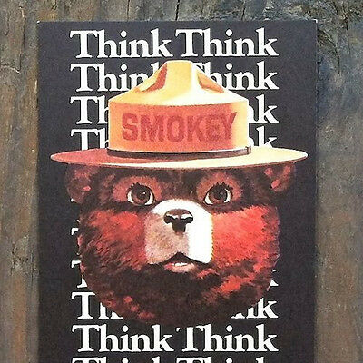 2 Original SMOKEY THE BEAR Think Bookmark 1982 Department of Agriculture NOS