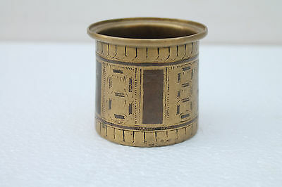 Old Copper inlaid Brass Mixed Metal Holy Solid Heavy Water Panchpatra Pot NH2039