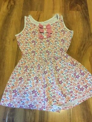 Girls Summer Flower Playsuit Age 7-8 Yeats Old
