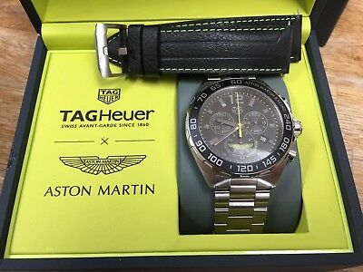 Tag Heuer F1 Aston Martin Racing Watch Chronograph 2018 Special Edition Reduced 1 300 00 Picclick Uk