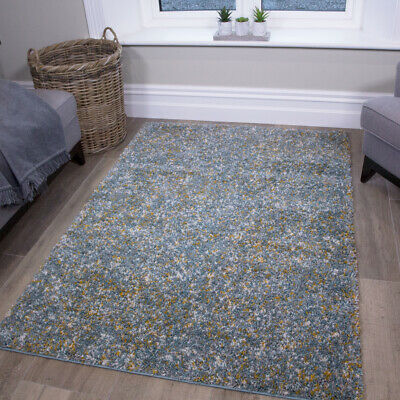 Soft Mottled Duck Egg Blue Shaggy Rugs Small Large Thick Dense Shag Carpet Cheap