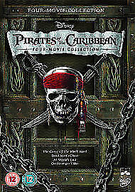 Pirates of the Caribbean x 4 movie DVD collection