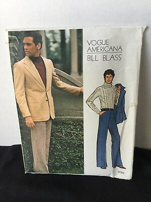 VOGUE Pattern Men's jacket/pants suit UNCUT Bill Blass