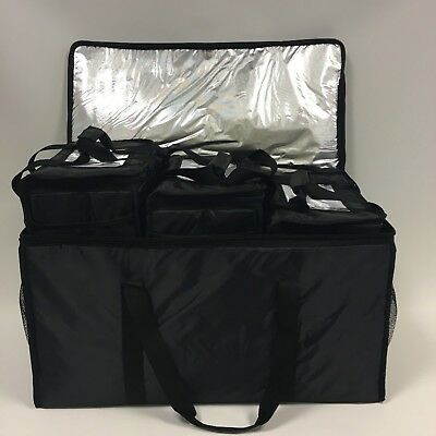 Delivery Bag - Hot/Cold Food Delivered TOGETHER Insulated Thermal 4x Bags T81/31