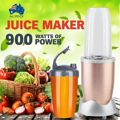 11Pcs Juicer Mixer Extractor Fruit Vegetable Blender 900W  hampagne gold color M