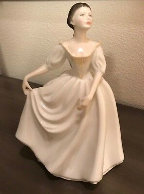 Royal Doulton HN 2939 Donna Figurine Lady White Dress Peter Gee England EUC
