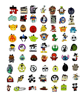 Disney Pin Trading 25 Boy Assorted Pin Lot - NEW Pins - No Doubles - Tradeable