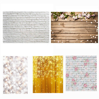 2x3ft Glitter Flower Wood Floor Photography Backdrop Studio Photo Background