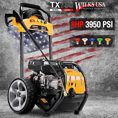 Petrol Pressure Washer - 3950PSI / 272BAR - Power Jet Cleaner - WILKS USA TX750