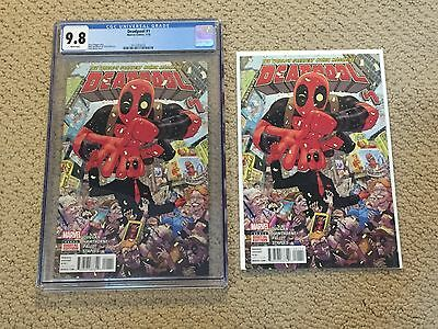 Deadpool 1 CGC 9.8 White Pages + Extra Copy!!