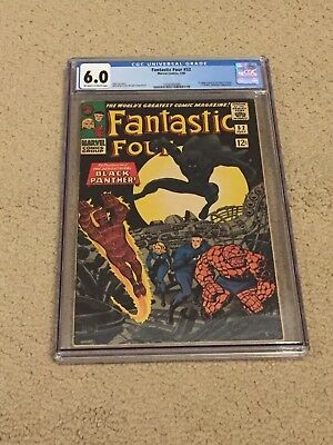 Fantastic Four 52 CGC 6.0 OW/White Pages (1st app of Black Panther!!)