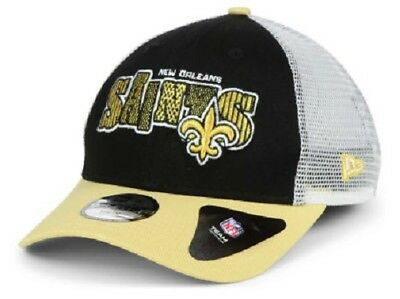 New Orleans Saints NFL New Era 9Forty Youth Trucker Snapback Hat