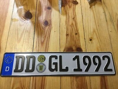 European Car Euro Number License Plate Germany German 10 00