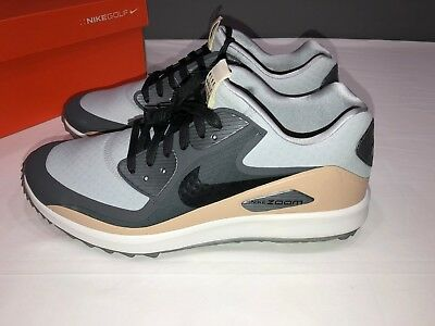 4f631d1be93c1 NEW Nike Men s Zoom 90 IT Golf Shoe NGC 904770 001 Wolf Grey Black Tan Size