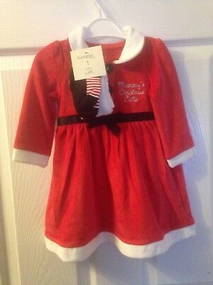 Baby Girls Christmas Santa Claus Dress Tights Outfit Costume Holiday Gift 12-18M