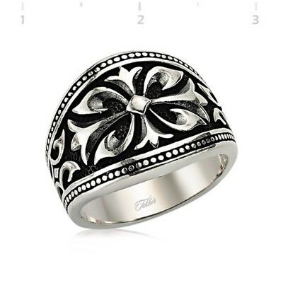 High Quality 925 Sterling Silver ROMAN Rings Signet rings Decorated men's rings